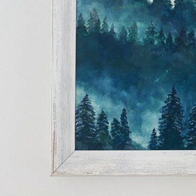 Balts veclaicīgs gleznas rāmis 2