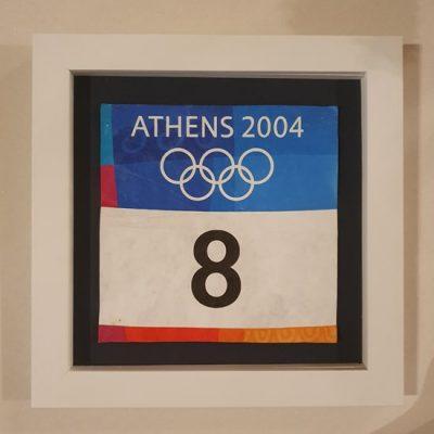 Olimpiāde balts rāmis