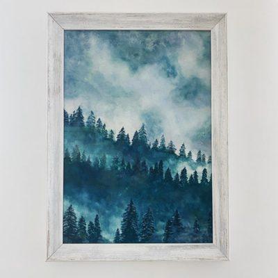 Balts veclaicīgs gleznas rāmis 1