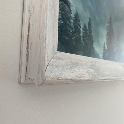 Balts veclaicīgs gleznas rāmis